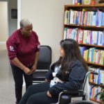 CNA Students Practice Wheel Chair Transfers