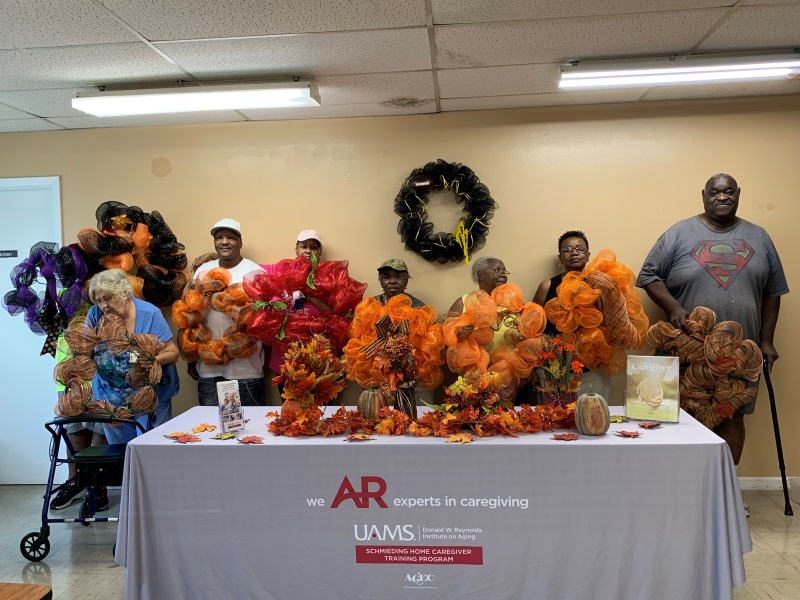 Senior Group with hand made fall wreaths
